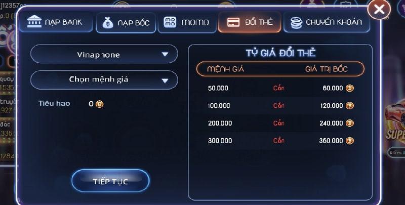 Bốc Club hỗ trợ đổi thẻ cho người chơi tham gia