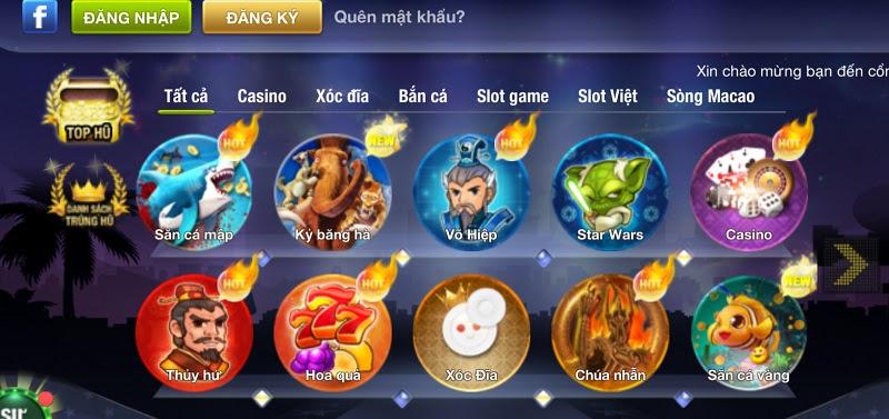 Giao diện đặc trưng có một không hai của cổng game quốc tế King Fun